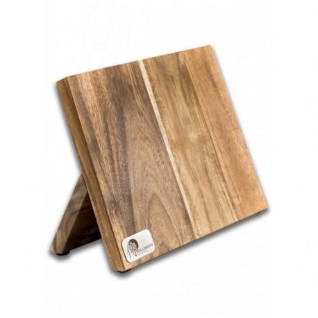 Magnetický držák na nože z akátového dřeva