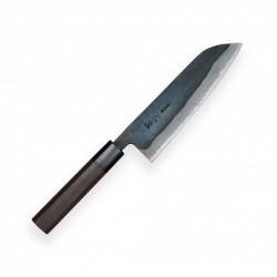 nůž Kamagata / Santoku 170 mm - KIYA Suminagashi Kurouchi Damascus 11 layers