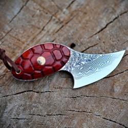 nůž lovecký Dellinger LITTLE TURTLE vg-10 Damascus