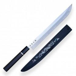 Josho-Tsuki AISI 1095 Steel - Sakimaru Yanagiba - Japanese Chef Knife 310mm with Saya
