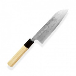 nůž Kamagata / Santoku 170 mm - KIYA - Suminagashi White - Damascus 11 layers