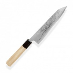 nůž Gyuto / Chef 210 mm - KIYA - Suminagashi White - Damascus 11 layers