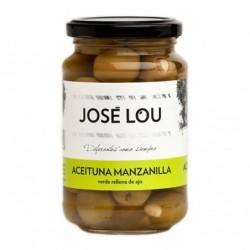 olivy zelené plněné česnekem José Lou Manzanilla 190 g