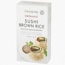celozrnná hnědá BIO rýže na sushi Clearspring Organic 500 g