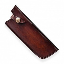 kožená Saya pro nůž Nakiri - Dellinger Octagonal Full Damascus
