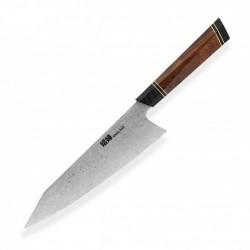 """nůž Kiritsuke / Chef 8,5"""" Dellinger Octagonal Desert Iron Wood FULL"""