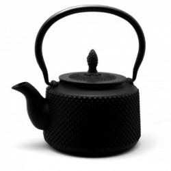 litinová konvička Arare Black na čaj 850 ml