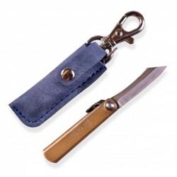 japonský nůž HIGONOKAMI mini s modrým pouzdrem