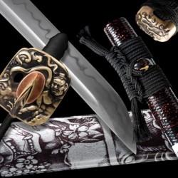 Hanya Japanese Sword - T-10 Steel, BOHI - Choji Hamon