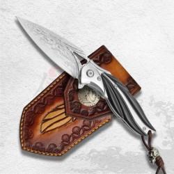 nůž zavírací Dellinger Cloverleaf VG-10 Damascus