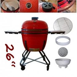 "keramický gril kamado Dellinger Smoke&Fire 26"" červený"