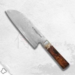 nůž šéfkuchaře Santoku 180mm Dellinger Manmosu - Professional Damascus