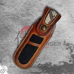pouzdro pro nůž zavírací Dellinger TANTO Lenge Obsidian VG-10 Damascus