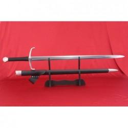 meč středověký - evropského typu, ostrý, funkční